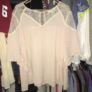 Light pink flowy shirt